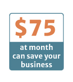 75$ at month can save your bussines